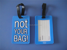 best selling not your bag design bag tag/blue standard size pvc luggage tag