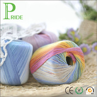 100% Fine Knitted Hand-woven Wool Colorful Lace Yarn Spring and Summer Cotton Thread Lace Line Cotton Line