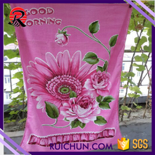 promotional wholesale egypt cotton cut pile print beach towels with sunflower