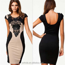 Fashion Summer European Ladies Casual Dress Women Sex Black Party Dress
