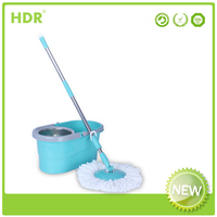 HDR-M021B bucket mop 360 Spin Magic Mop rod,Hand Press With Wringer Mop Bucket