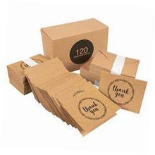 handwritten brown kraft paper thank you note cards