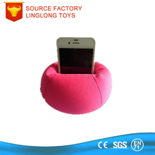 Manufacture Customize Printing Logo Car Mobile Phone Holder Foam Particle Phone Support Micro Particle Bean Bag Phone Holder