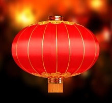 Chinese New Year Round Silk Lantern for Festival Decorations