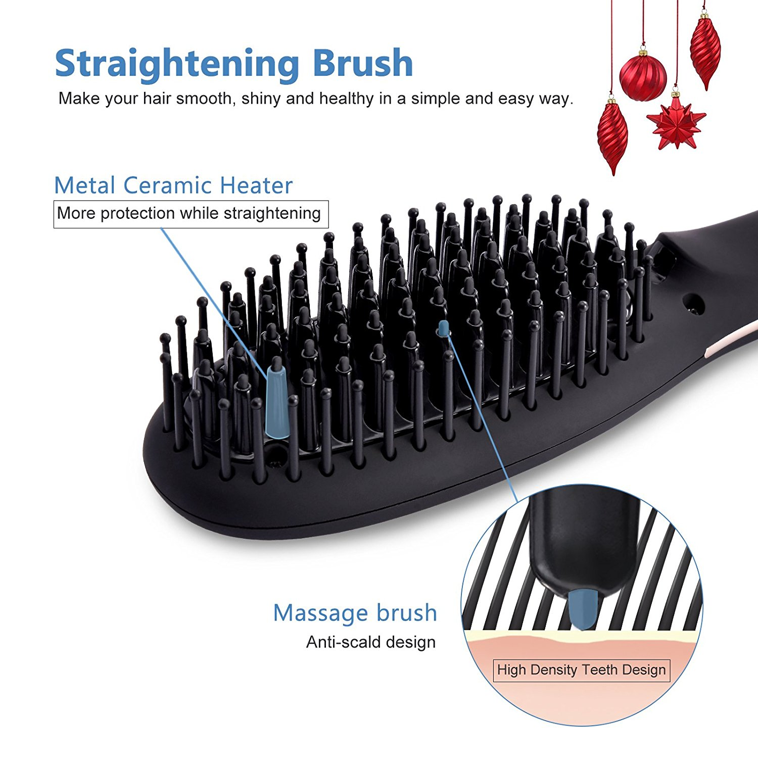new 2018 best selling products ionic hair straightener brush