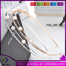 FXG_J00 Yiwu Wholesale Fashion <strong>Headbands</strong> With Crystal Pearl Top Quality Cheap Fashion Hair Accesssories