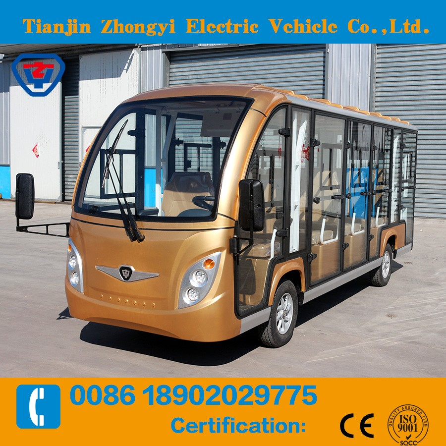14 passenger electric shuttle bus with great price