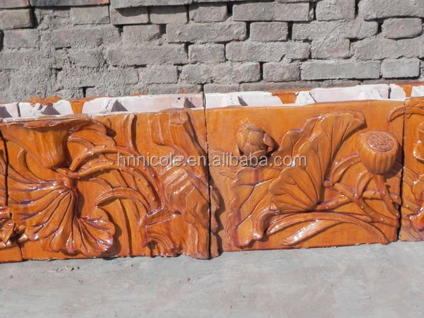 keralal glass clay flower clay roof tile price best selling in europe