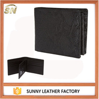 Good selling snake skin texture real leather RFID blocking mens wallets with strong gift box