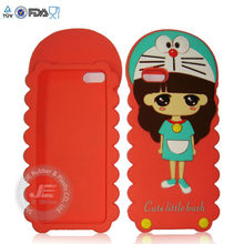 Red Cute girl Silicone Case for Iphone Silicone cover for iphone