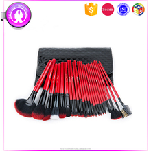 24PCS Red Foundation Brushes Personalized Makeup Brushes Sets