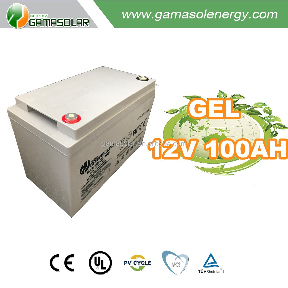 2017 Gama Solar deep cycle 12v 100ah 250ah 300ah gel battery for off grid solar system
