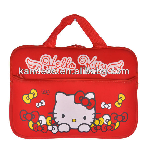 2013 Hot Sale Neoprene Hello Kitty Laptop Sleeve