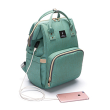 Pofunuo new updated fashion multi-funtion large capacity waterproof oxford mommy bag baby diaper backpack
