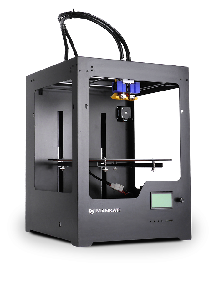 Mankati High Tech 3D Printer with Two Extruder & Large Printing Size