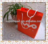 orange paper bags with handles for communication industry