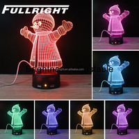 3d illusion lamp--Breath color changing-USB phone charging port- Anion AIR Purification-3d optical illusion lamp