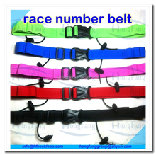 Elastic soft race bib number belt / custom tri belt