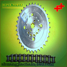 China manufacture,motorcycle spare part chain and sprocket