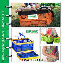 plastic collapsing folding crate with handles