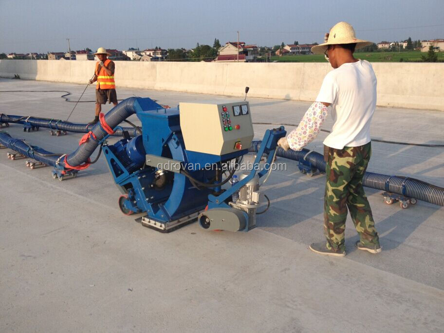 Movable shot blasting machine for road surface cleaning/floor shot blasting machine