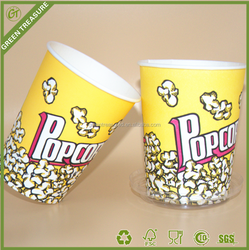 2016 Paper Bucket for Food/32oz Paper Buckets/930ML Greaseproof Biodegradable Custom Paper Bucket for Cookies