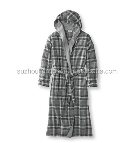 Women's Maine Camp 100% Cotton Flannel Robe--Dark Grey Heather