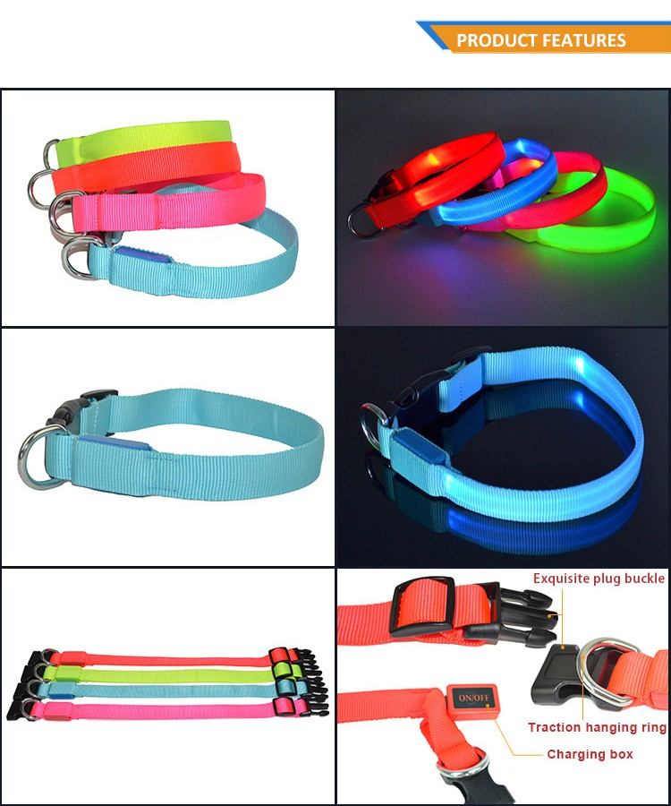 Factory Best Products Flashing LED Dog Collar Pet Accessory TZ-PET2110