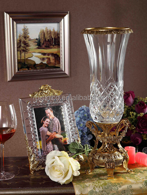 Royal Bronze Crystal Candy Jar, Unique Home Decorative Crystal with Brass Candy Can (BF01-0204-1)