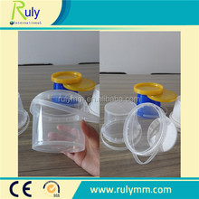 Clear/transparent small plastic food buckets with lid with handle