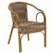 Outdoor Garden all weather wicker stacking chair