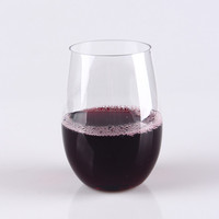 12 oz-16oz and 20oz Hard Thick Plastic Stemless Wine glass,made from tritan