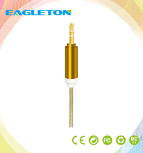 high quality 3.5mm jack aux audio cable for cell phone Product Length 1m / 2m / or custom length