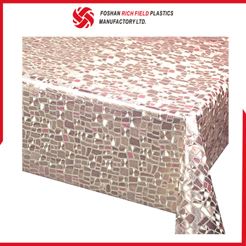 Cheap PVC Non-Woven Luxurious Wedding Table Cloths