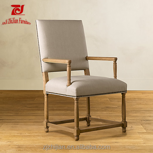 High Back Arm Chair Vintage Louis Chair Luxury Antique High Back Wedding Chair ZJF62