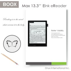 Full-screen touch with stylus ebook reader support Handwriting and annotation