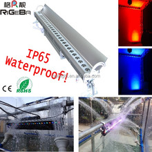 Hight power 27leds 3W RGB led wall lights outdoor liner bar led wall washer flood light