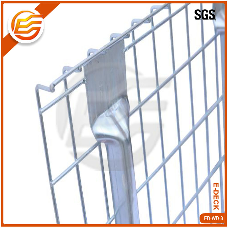 Teardrop rack wire mesh decking storage wire decks with support bars for box beam rack