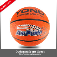 2015 YONO Factory sales rubber basketball size 7 for promotion