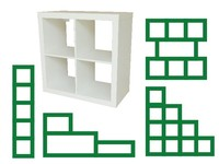Direct sale 4 Cube wood Bookcase | bookshelf | Wall unit