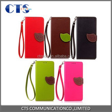 OEM factory price wallet flip leather cover case for lg k5 x220 cell phone back stand card holder slot PU skin protect holder