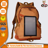 2.4w camo yellow military solar backpack for Mobile phone