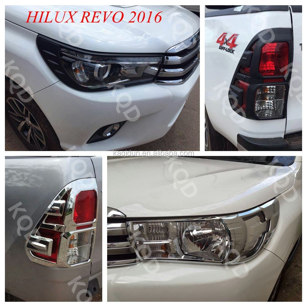 trade assurance wholesale chrome full kits 15pcs for hilux revotoyota hilux 4x4 accesorios buy. Black Bedroom Furniture Sets. Home Design Ideas