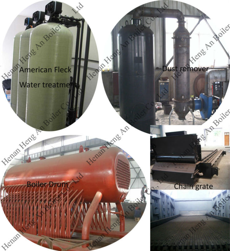 chain grate steam boiler's common water Medium pressure cotton shell chain grate boiler in sugar mill steam is very important  oil gas fired steam boiler and biomass water tube steam boiler is also.