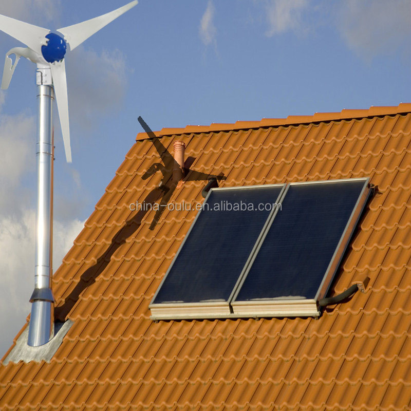 small wind and solar hybrid system for home use power supply