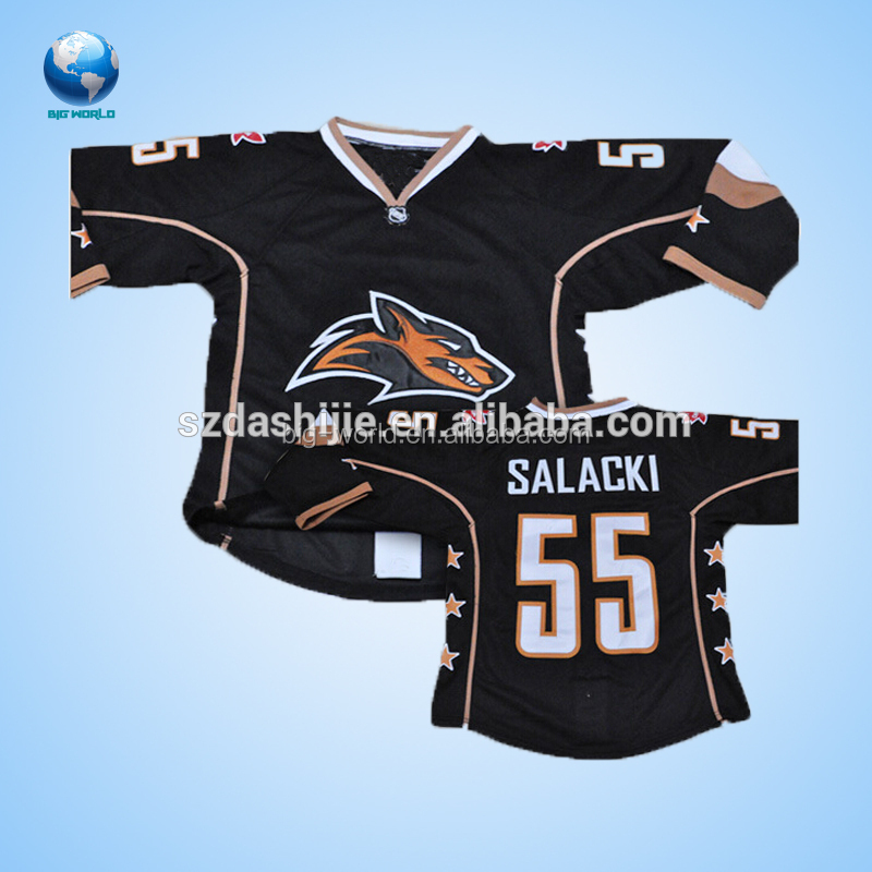 Sublimation dye print custom logo team unisex ice hockey jersey