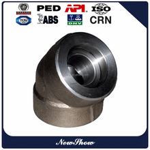 ASME B16.11 carbon steel 45 degree a105 elbow