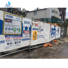 Professional factory steel temporary fence panel with flat feet construction site for sale