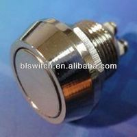Through IP67 and ROHS 12mm metal push button switch for toys