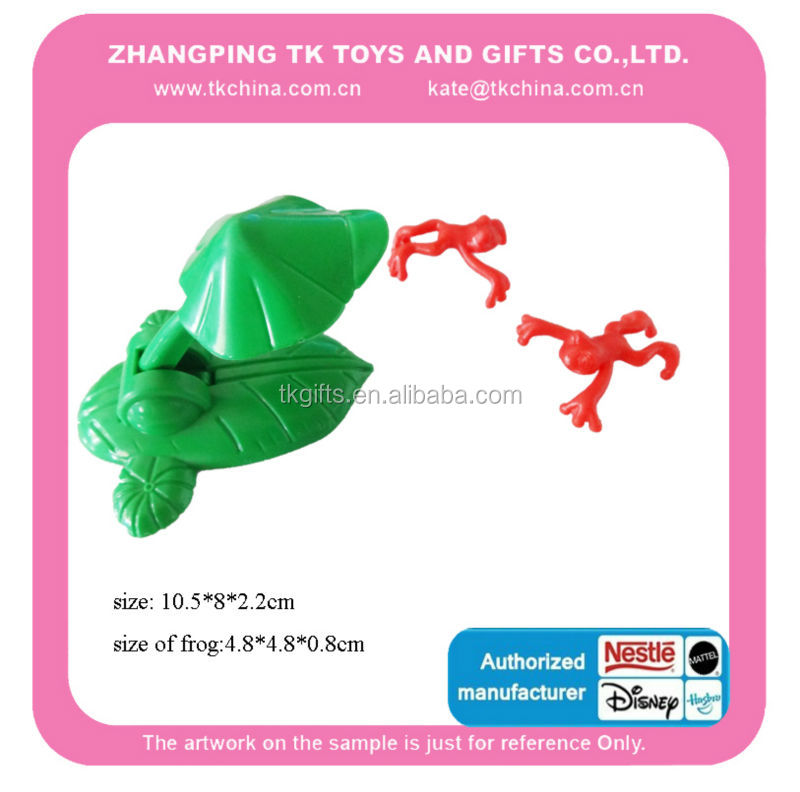 Plastic and TPR frog toys